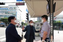 화성시의회 원유민 의장 '스마트 그늘막' 및 '그늘목(木) 쉼터' 현장방문